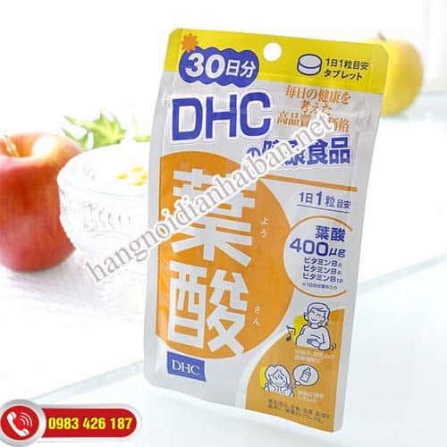 Acid Folic có trong viên uống DHC