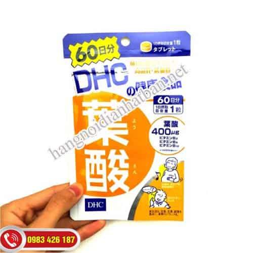 Dùng viền uống DHC để cung cấp Acid Folic mỗi ngày