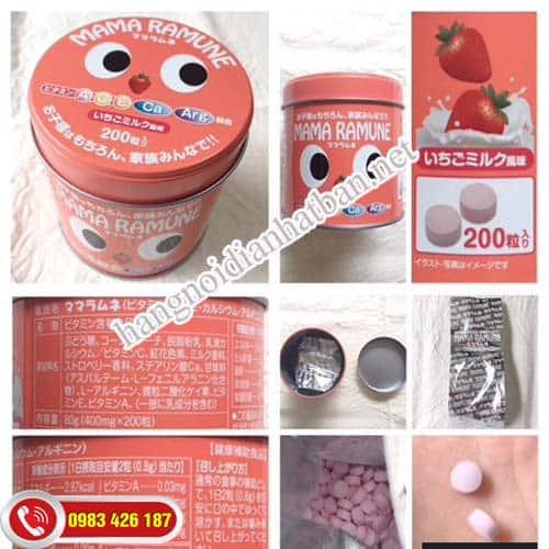Kẹo Mama Ramune là sản phẩm được ưa chuộng sử dụng cho các bà mẹ tại Nhật