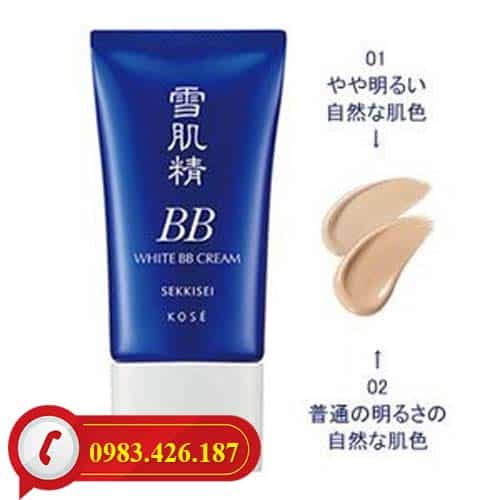 Kem trang điểm BB Kose Sekkisei White Cream 6 in 1 Nhật Bản