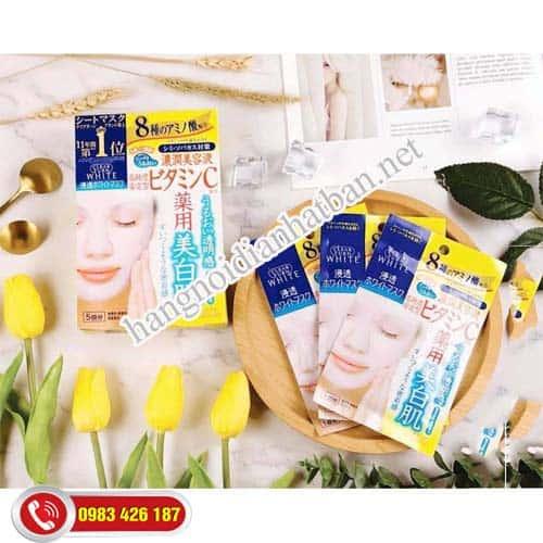 Mặt Nạ Collagen Kose giàu dưỡng chất thảo mộc