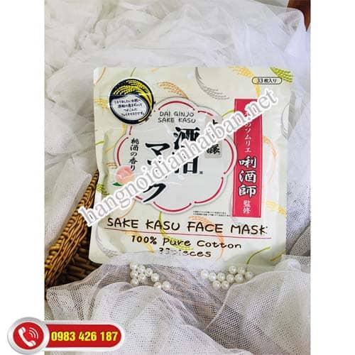 Mặt nạ ủ trắng, dưỡng da bã rượu Sake Kasu Pack Nhật Bản