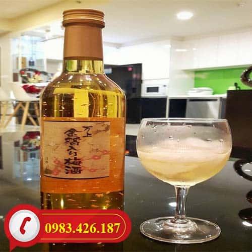 Rượu mơ vẩy vàng Kikkoman 500ml của Nhật Bản bán chạy tại Hà Nội