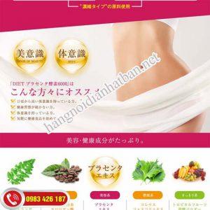 Sử dụng Diet Placenta và enzym