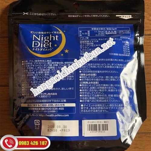 Sử dụng bột giảm orihiro night diet mỗi ngày để đạt được kết quả