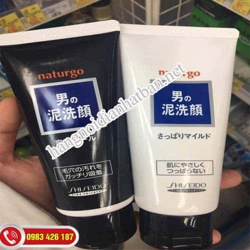 Thành phần sữa rửa mặt cho nam Naturgo Shiseido 130g Nhật Bản