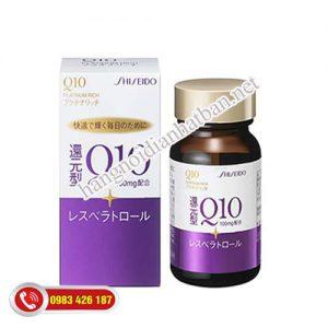 Viên uống đẹp da, chống láo hóa Shiseido Q10 Platinum Rich 100mg