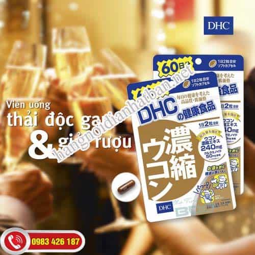 Viên uống DHC có tác dụng giải rượu bia an toàn và hiệu quả