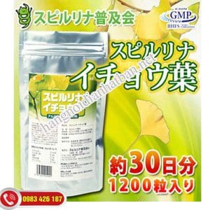 Viên uống Tảo Supirurina kết hợp lá bạch quả
