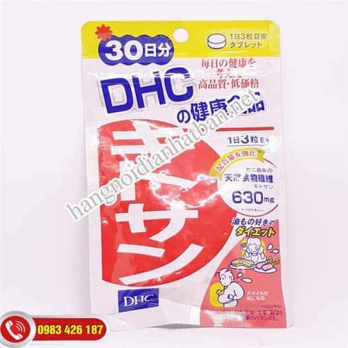Thành phần viên uống giảm mỡ bụng DHC Chitosan của Nhật bản