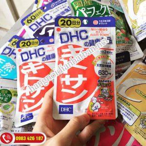 Viên uống giảm mỡ bụng DHC có chứa Chitosan làm giảm sự hấp thụ các chất béo