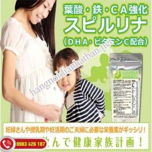 Viên uống tảo Spirulina bổ sung đầu đủ dưỡng chất cho mẹ bầu