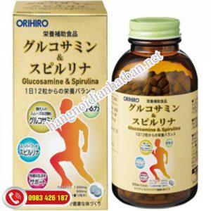 Viên uống xương khớp Glucosamine & Spirulina Orihiro tốt nhấtNhật