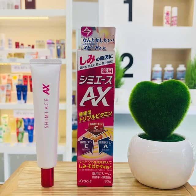 kem trị nám tàn nhang Kracie shimi ACE AX 30g Nhật bản giúp trắng da