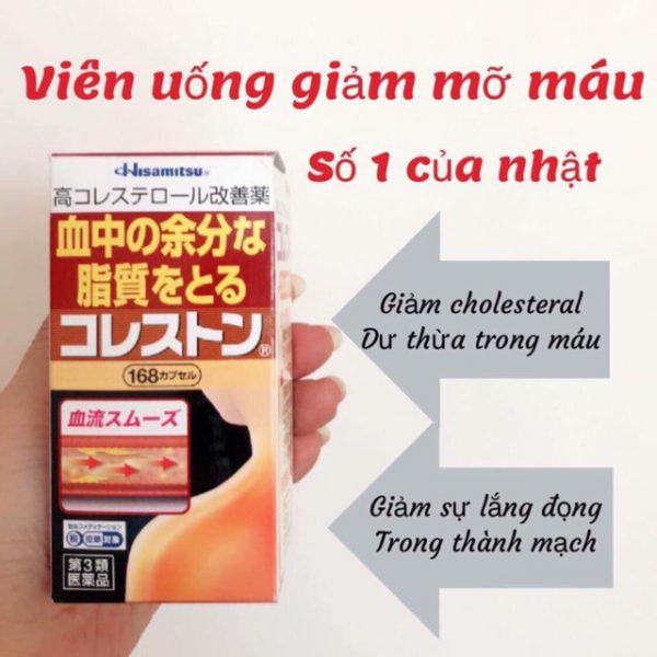 Công dụng tuyệt vời của thuốc giảm mỡ máu hisamitsu Nhật Bản