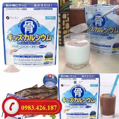 Bột Canxi Cá Tuyết Calcium tăng chiều cao Nhật Bản chính hãng