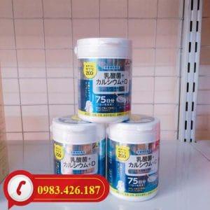 Kẹo bổ sung Canxi và Vitamin D Unimat Riken chính hãng Nhật Bản