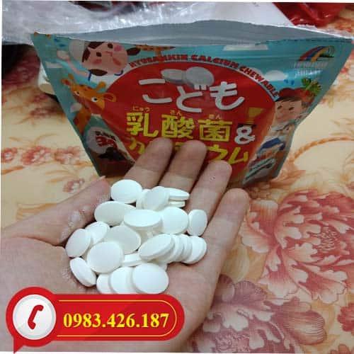 Kẹo nhai bổ sung Canxi và Lactic cao cấp Nhật Bản gói 90 viên