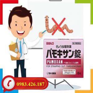Thuốc tẩy giun Pamoxan Sato chính hãng Nhật Bản