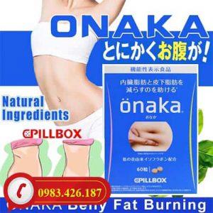 Viên uống giảm mỡ bụng Onaka bí quyết làm đẹp