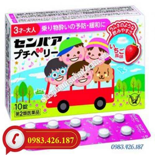 Thuốc say tàu xe trẻ em Nhật Bản vị dâu