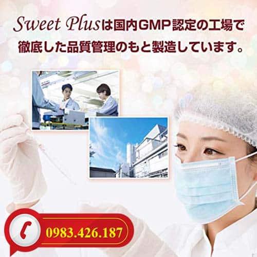 Viên uống Sweet Plus Nhật Bản được sản xuất bảo đảm vệ sinh