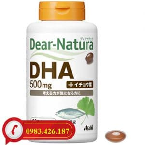 Viên uống an thần DHA Dear Natura 500mg